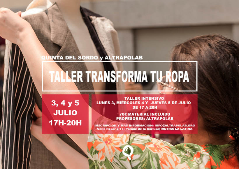"Taller ""transforma tu ropa"" en Madrid 1"