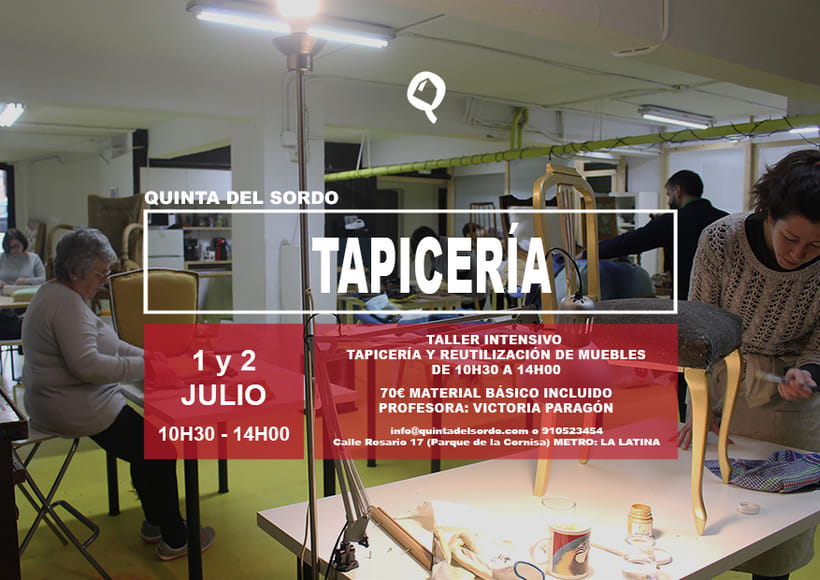 Taller de tapicer a en madrid formaci n domestika - Talleres de tapiceria ...