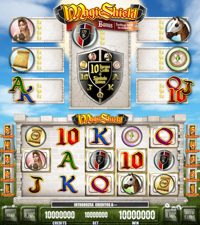 "Slot Game ""Magic Shield"" 16"
