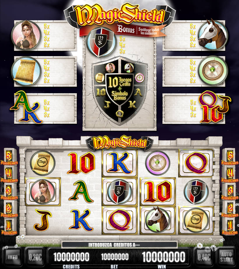 "Slot Game ""Magic Shield"" 17"