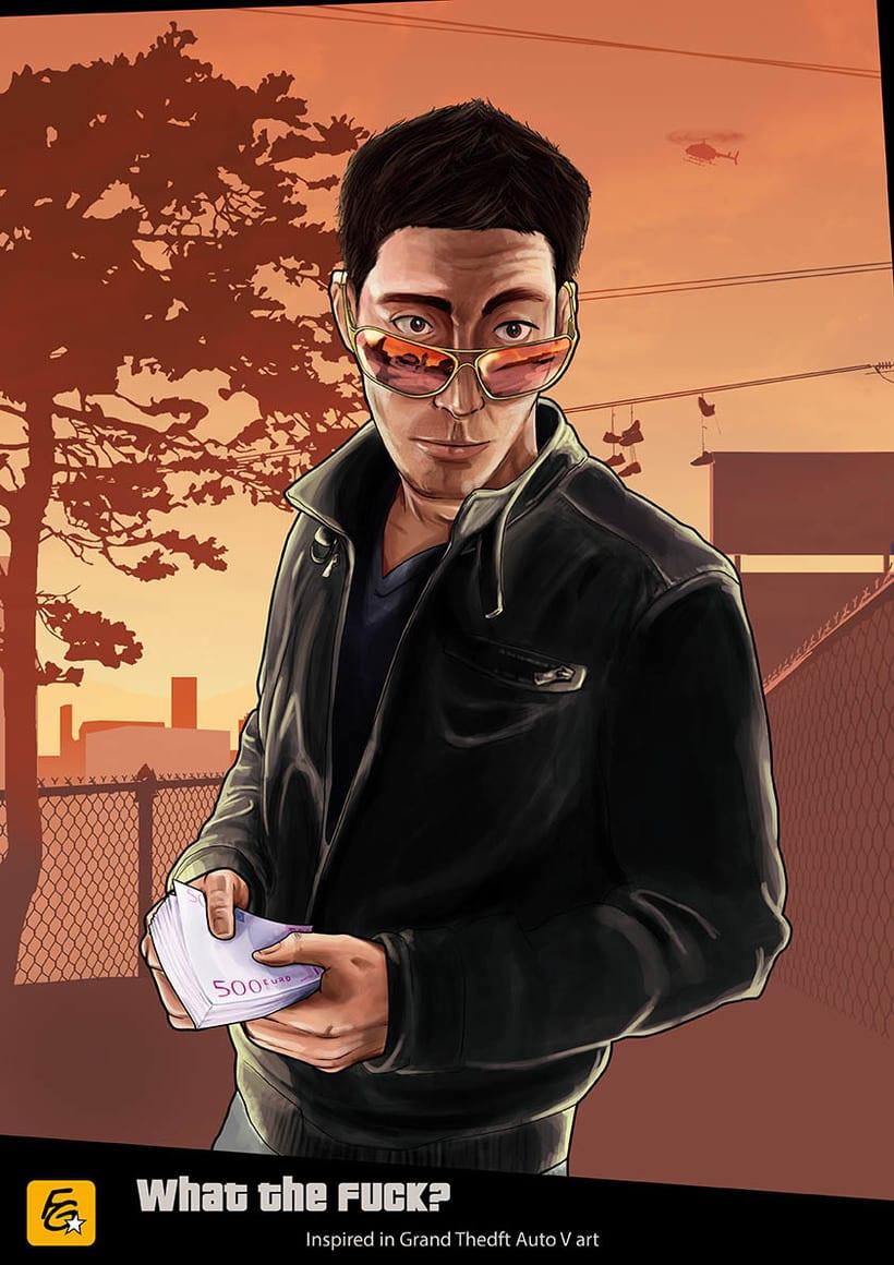 Grand Theft Auto V Fan Art 3