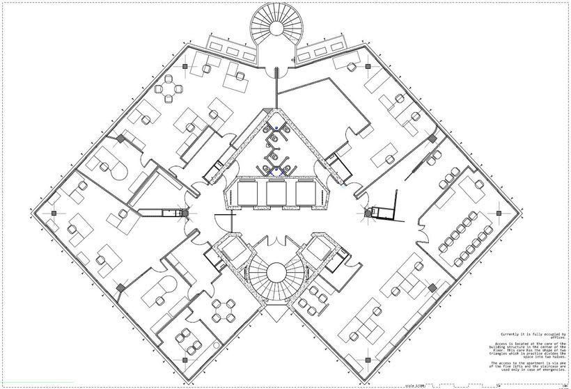 Diseño interior de vivienda en torre de oficinas 0