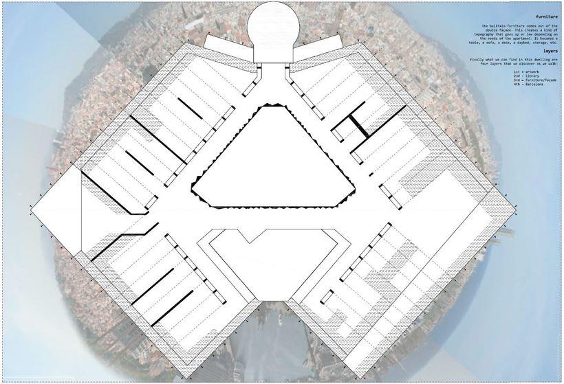 Diseño interior de vivienda en torre de oficinas 2