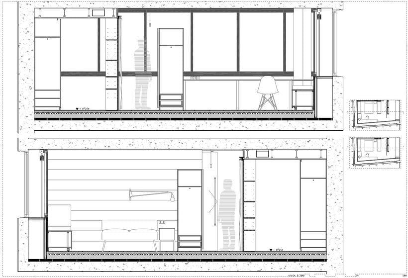 Diseño interior de vivienda en torre de oficinas 6