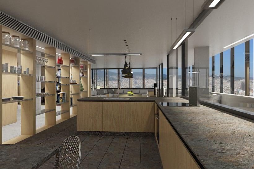Diseño interior de vivienda en torre de oficinas 7