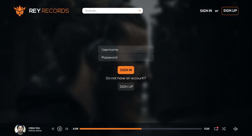 Website : ReyRecords (Music site) 1