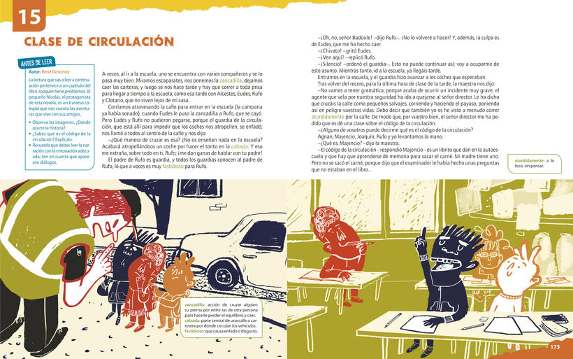 Traffic lesson | Textbook illustration 0