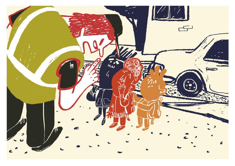 Traffic lesson | Textbook illustration 2
