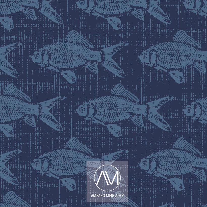 """Estampado """"La memoria de los peces"""" -1"""