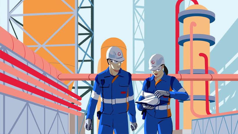Total Energy - ilustraciones para video corporativo 3