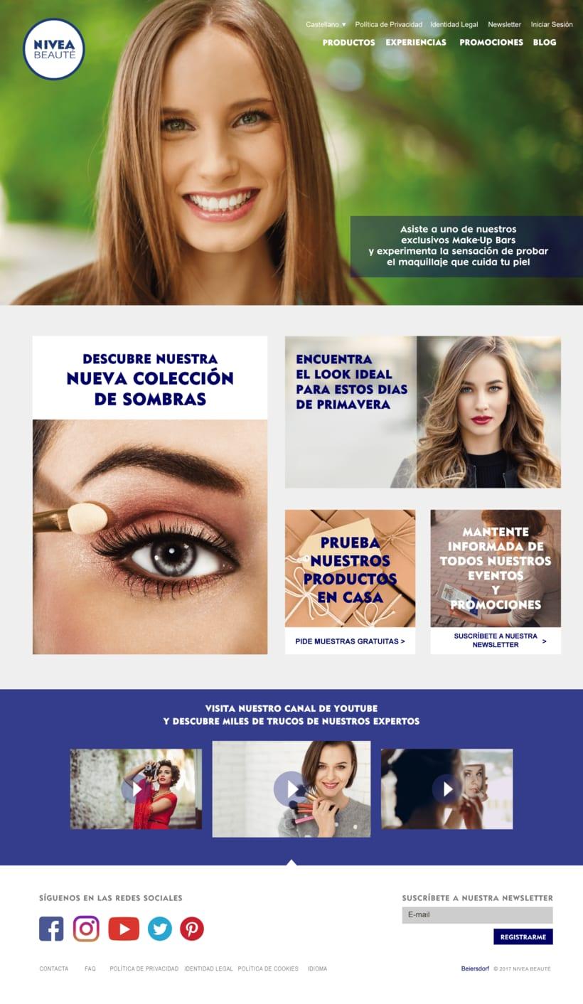 Diseño Web y Blog Proyecto NIVEA Beauté 0