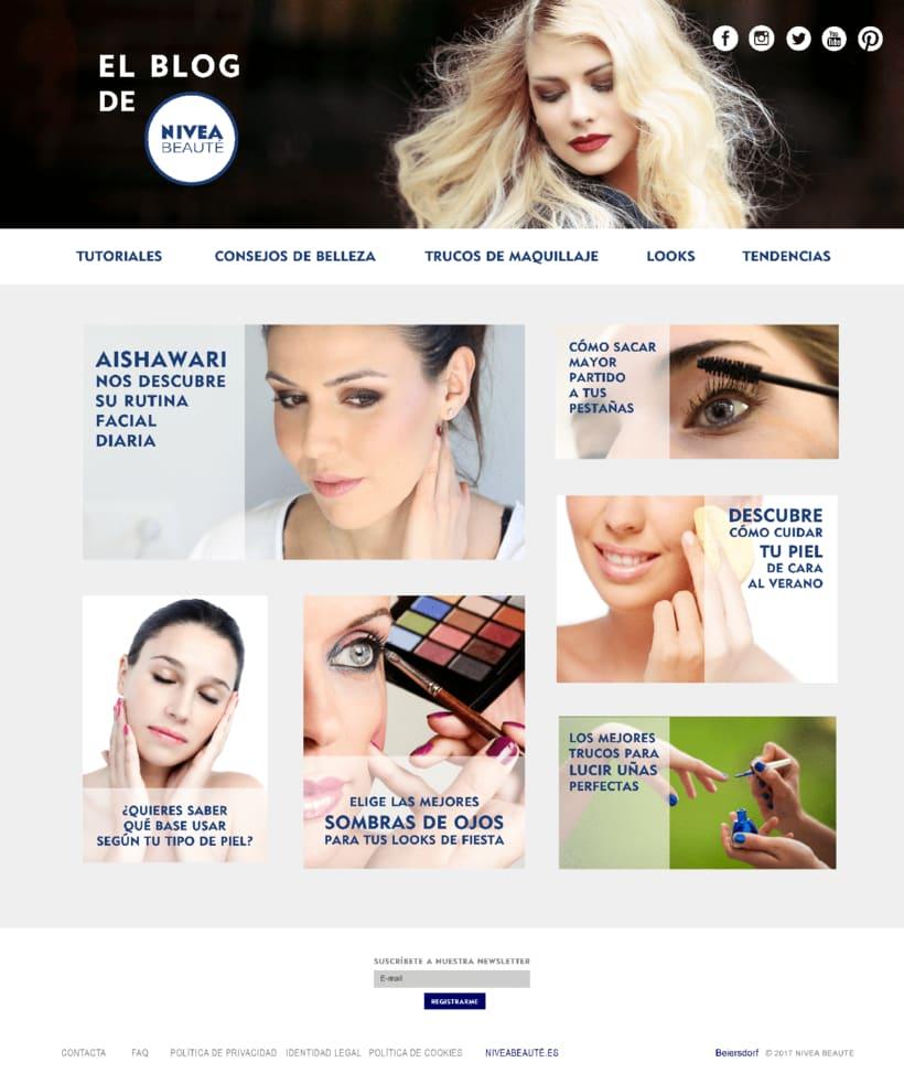 Diseño Web y Blog Proyecto NIVEA Beauté 2