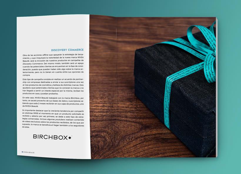 Maquetación estilo revista - Plan de Marketing Digital NIVEA Beauté 2