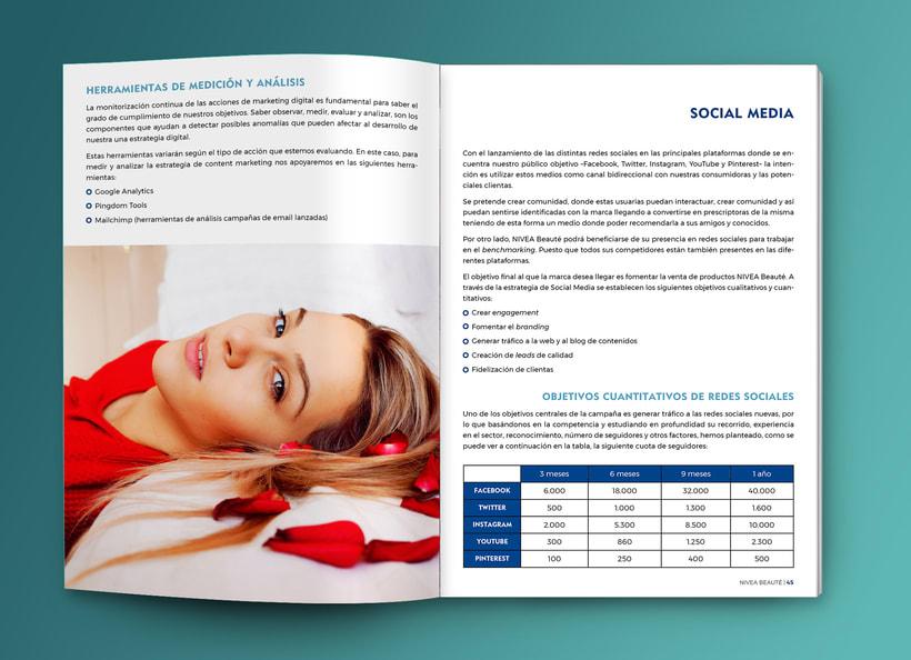 Maquetación estilo revista - Plan de Marketing Digital NIVEA Beauté 3