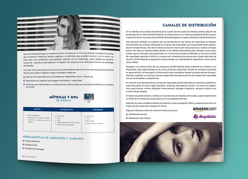 Maquetación estilo revista - Plan de Marketing Digital NIVEA Beauté 4