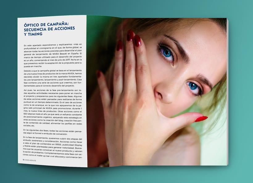Maquetación estilo revista - Plan de Marketing Digital NIVEA Beauté 5
