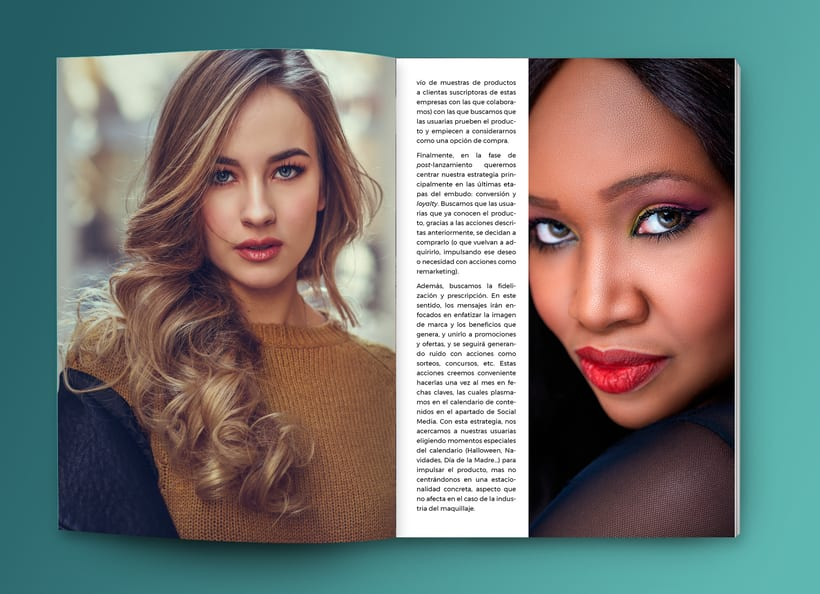Maquetación estilo revista - Plan de Marketing Digital NIVEA Beauté 6