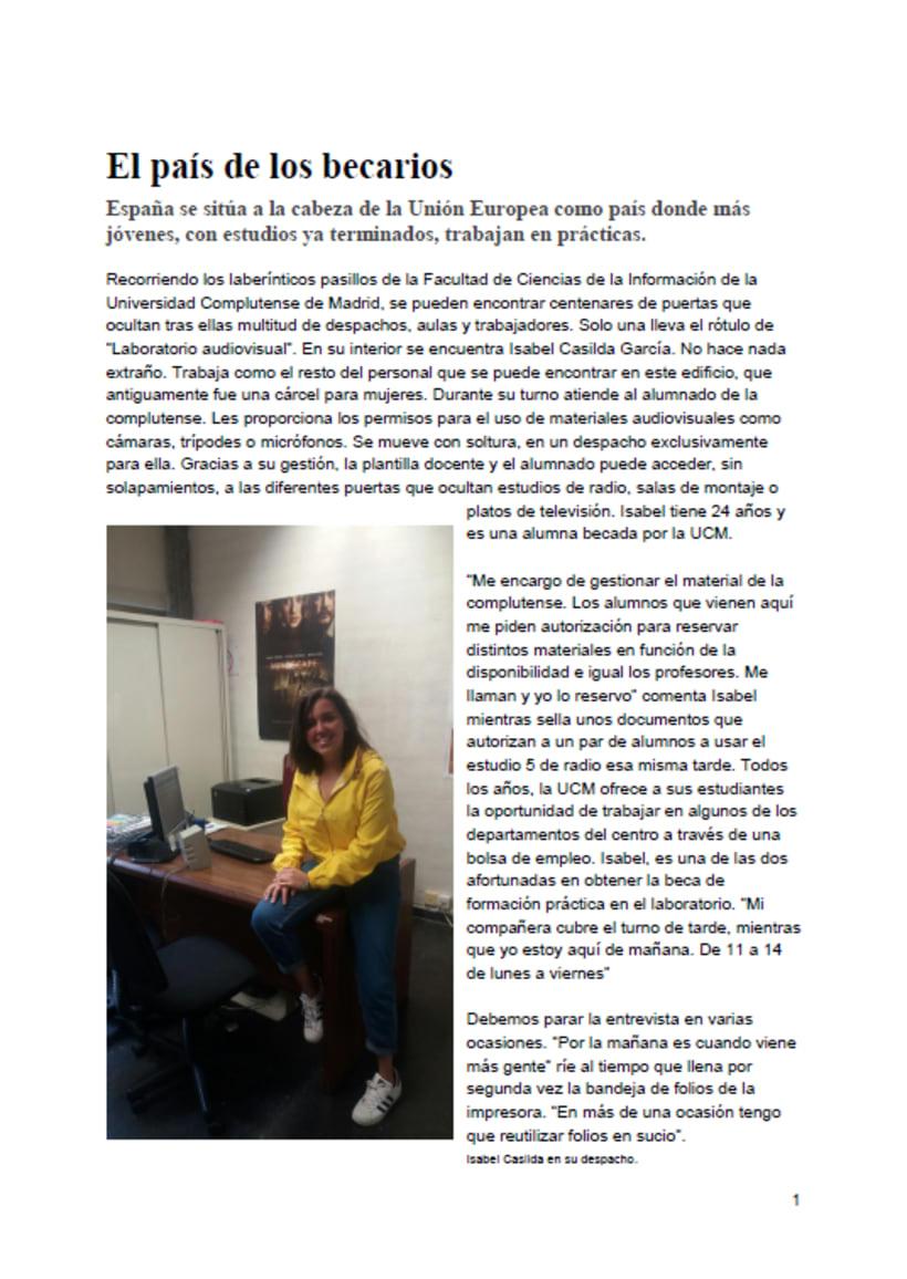 Reportaje: El País de los becarios 1