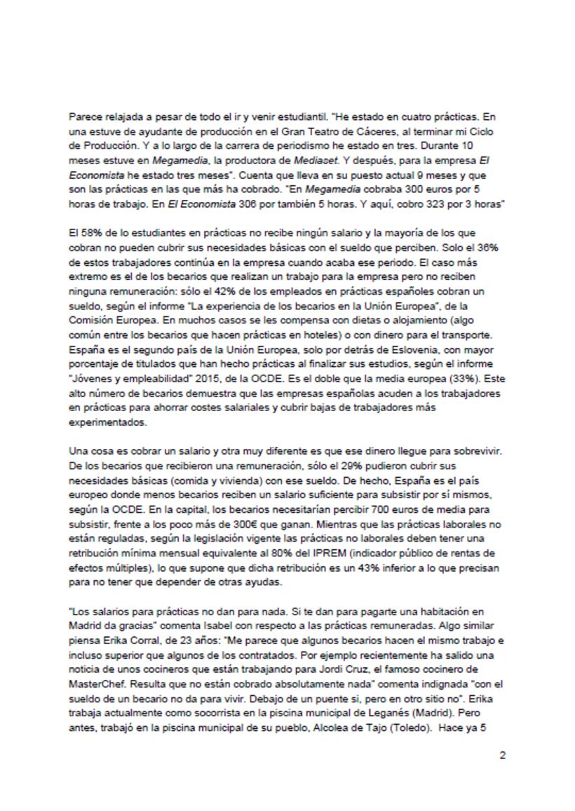Reportaje: El País de los becarios 2