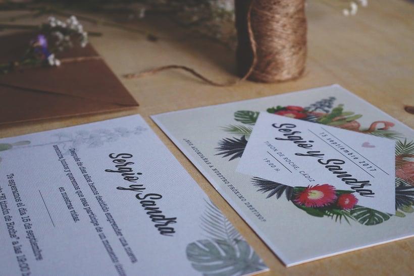 Invitación Boda en papel 2