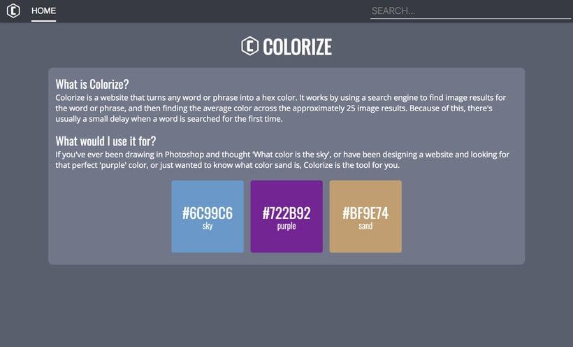 Colorize traduce las palabras en color 1