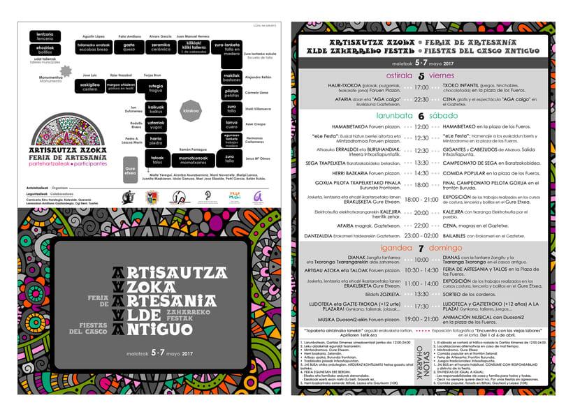 Dípticos y trípticos promocionales para días festivos en Alsasua · Navarra 1