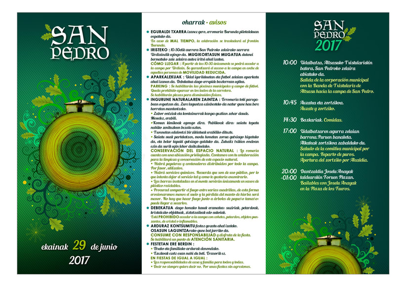 Dípticos y trípticos promocionales para días festivos en Alsasua · Navarra 3