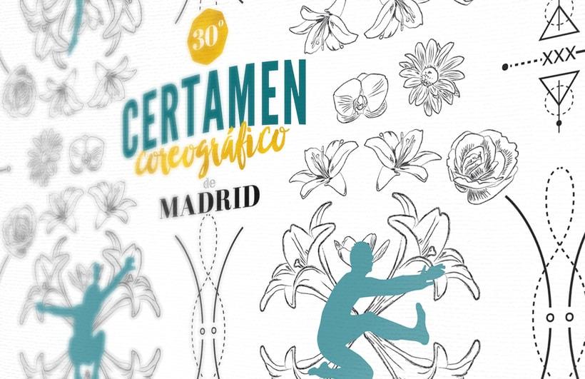 30º Certamen Coreográfico de Madrid. Concurso cartel publicitario. 0