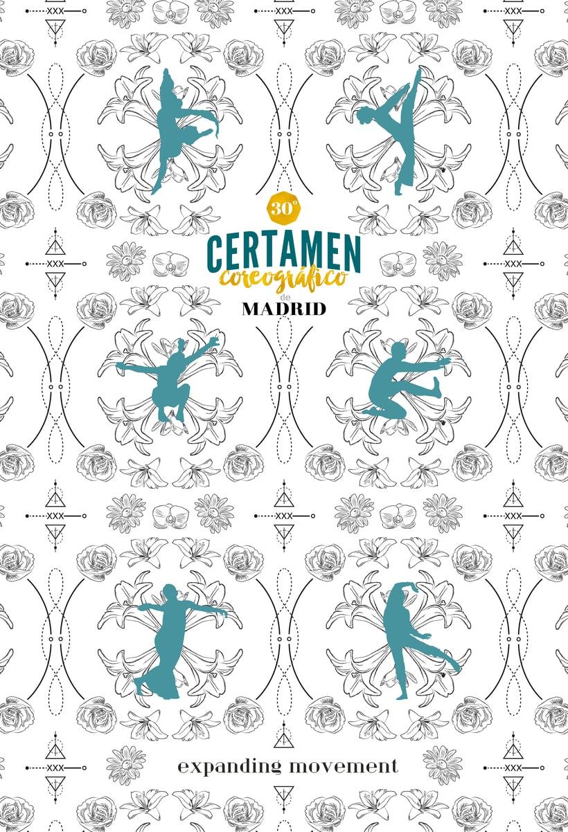 30º Certamen Coreográfico de Madrid. Concurso cartel publicitario. 1