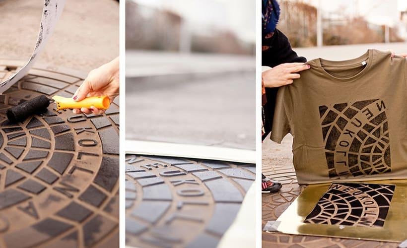 Raubdruckerin: la calle es su taller de grabado 1