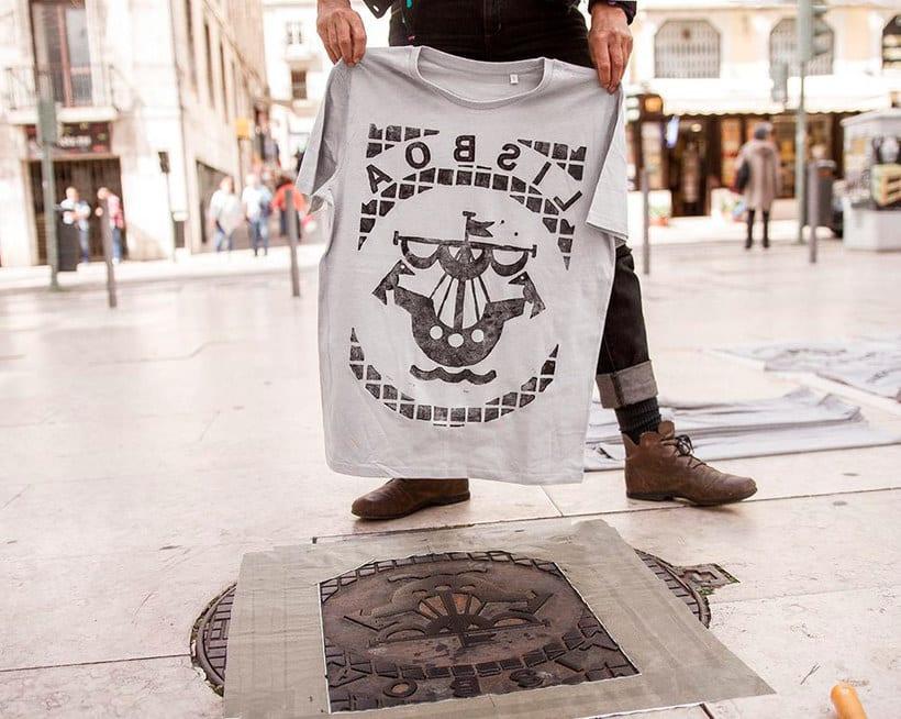 Raubdruckerin: la calle es su taller de grabado 20