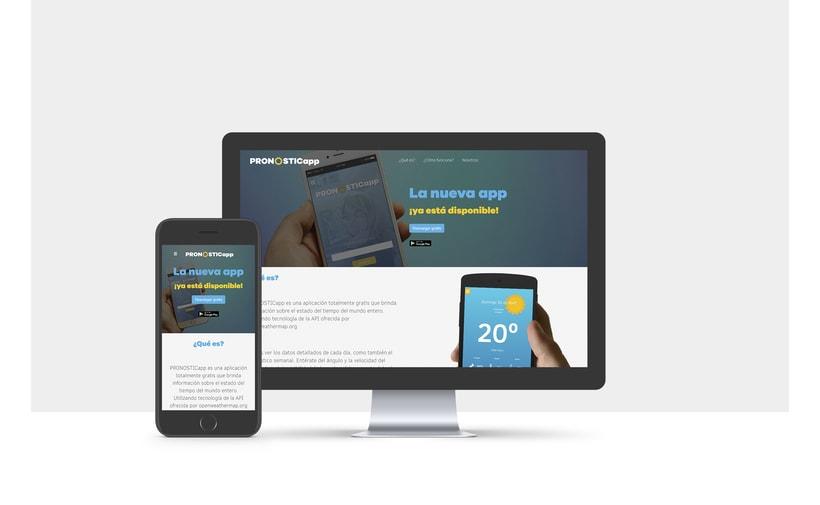 PRONOSTICapp one web page responsiva HTML5  (Programación 3) 0