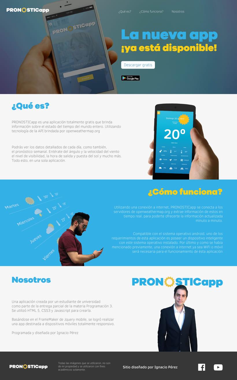 PRONOSTICapp one web page responsiva HTML5  (Programación 3) 4