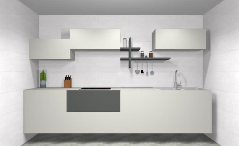 Diseño de cocina clásica y funcional  0
