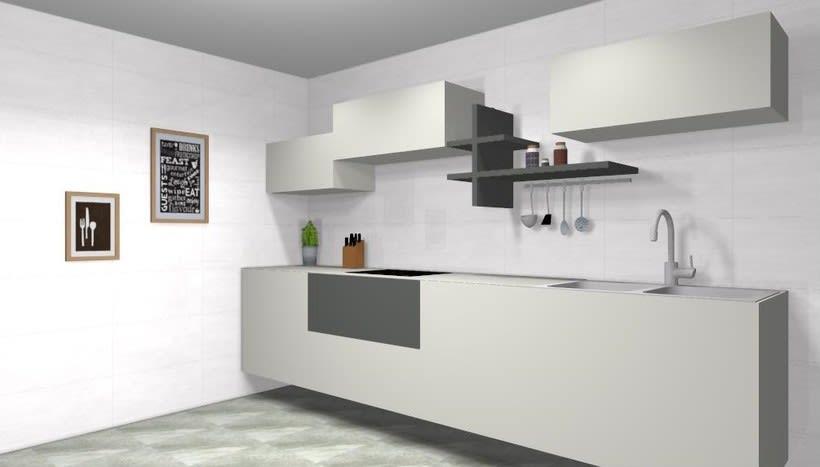Diseño de cocina clásica y funcional  1