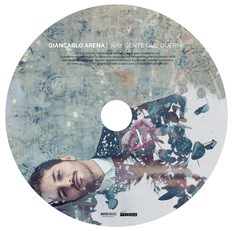 CD Layout 'Hay gente que duerme', Giancarlo Arena. 2