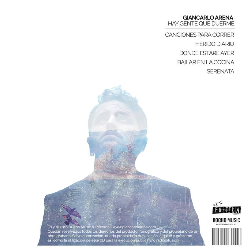 CD Layout 'Hay gente que duerme', Giancarlo Arena. 1