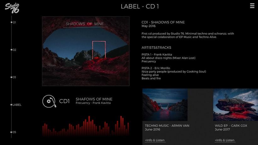 Propuesta estética II página web Studio 76 0