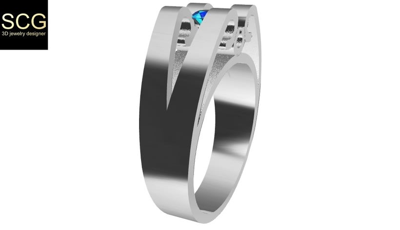 Ring with gem 2