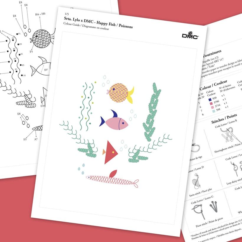 Colección de diagramas de bordados Srta. Lylo x DMC  15