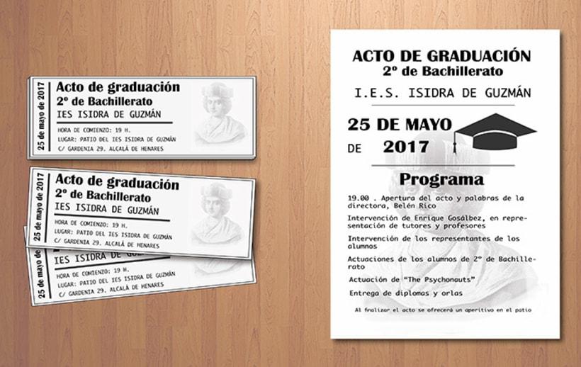 Entradas y programa graduación 0
