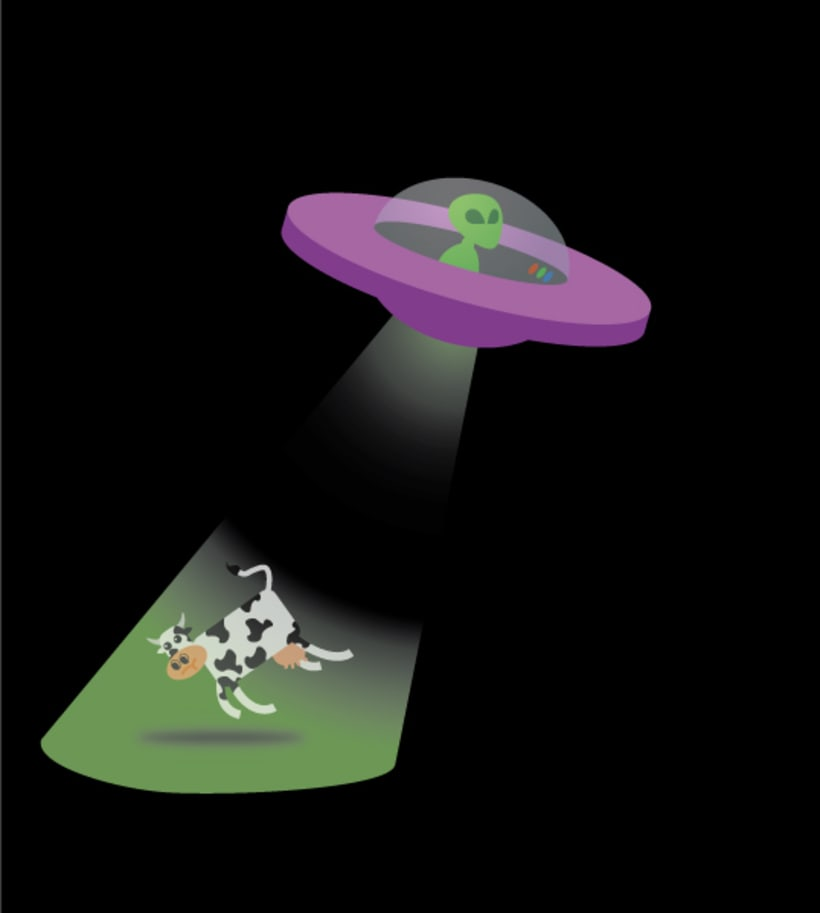 alien & cow -1