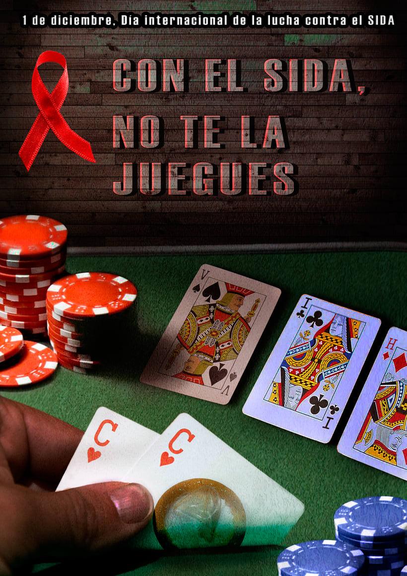 Cartel para campaña contra el SIDA 1