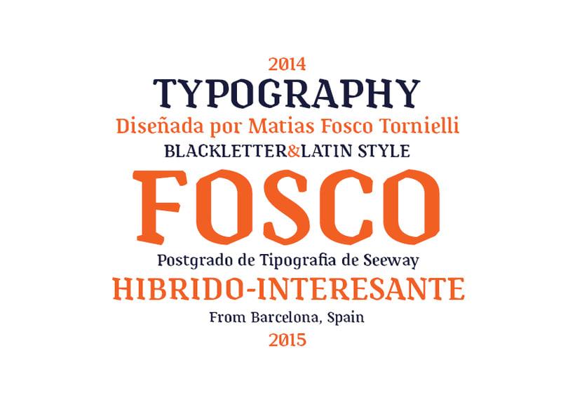 Tipografía Fosco, Premio Paco Bascuñán a la tipografía joven 2016 0