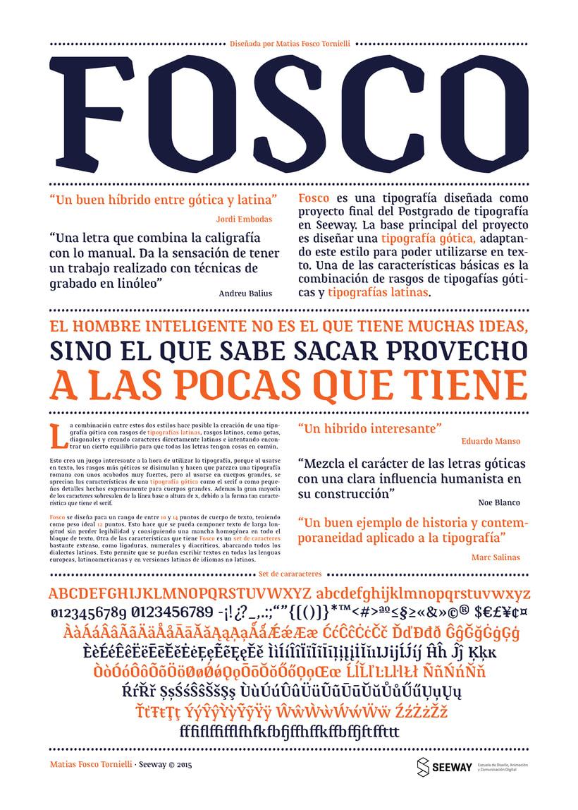 Tipografía Fosco, Premio Paco Bascuñán a la tipografía joven 2016 5