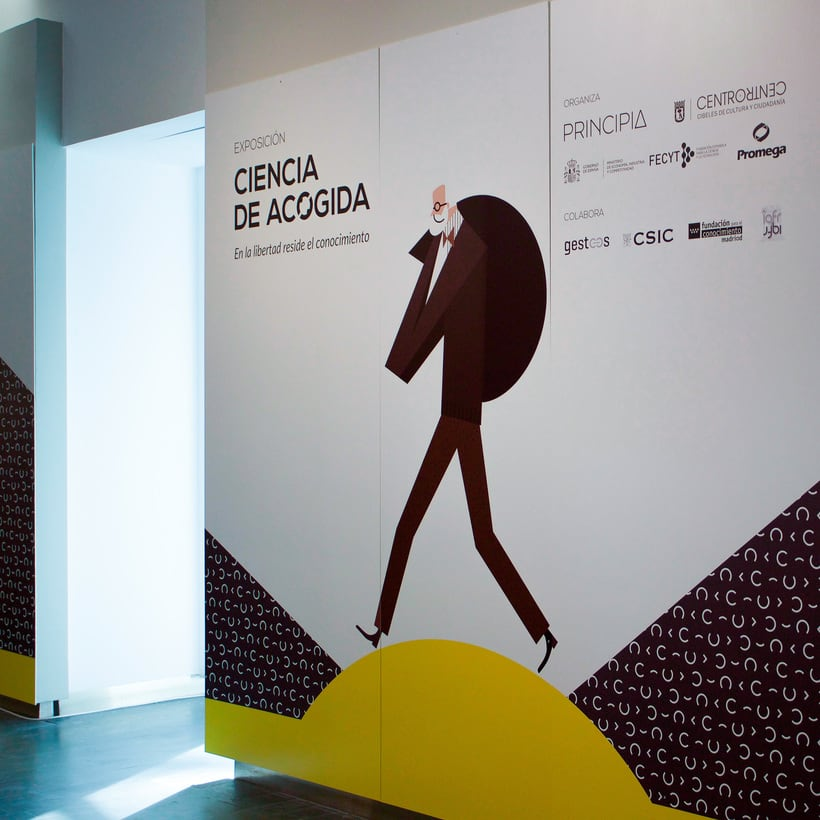"Exhibition ""Ciencia de Acogida"" for Principia Magazine at CentroCentro Cibeles, Madrid. 2"