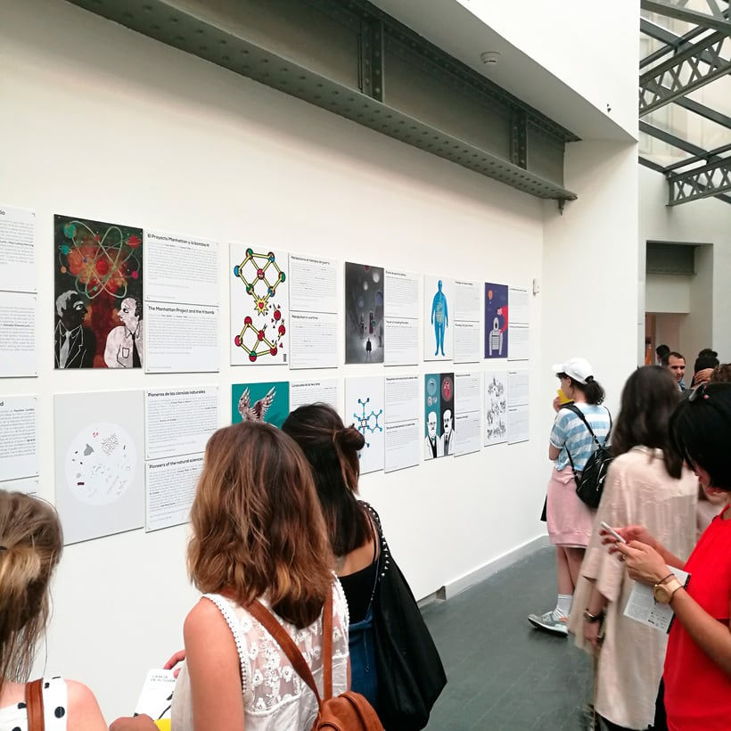 "Exhibition ""Ciencia de Acogida"" for Principia Magazine at CentroCentro Cibeles, Madrid. 5"