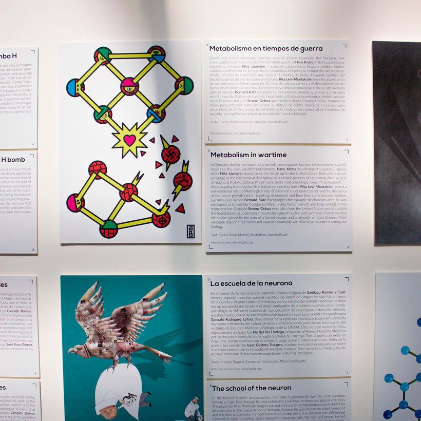 "Exhibition ""Ciencia de Acogida"" for Principia Magazine at CentroCentro Cibeles, Madrid. 6"