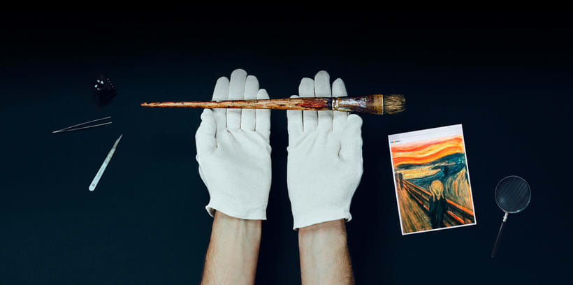 Adobe digitaliza y comparte los pinceles de 'El grito' de Munch 1