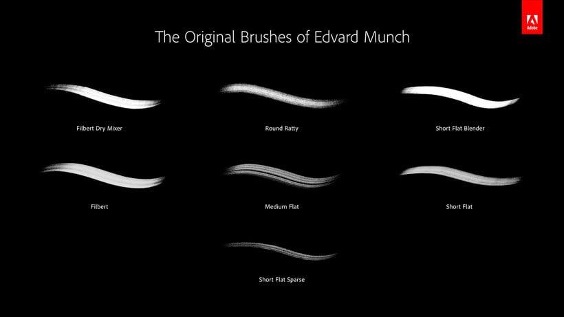 Adobe digitaliza y comparte los pinceles de 'El grito' de Munch 11